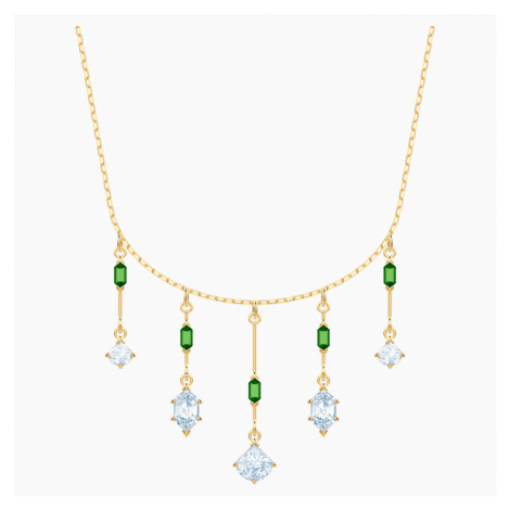 Oz Necklace, White, Gold-tone plated Swarovski