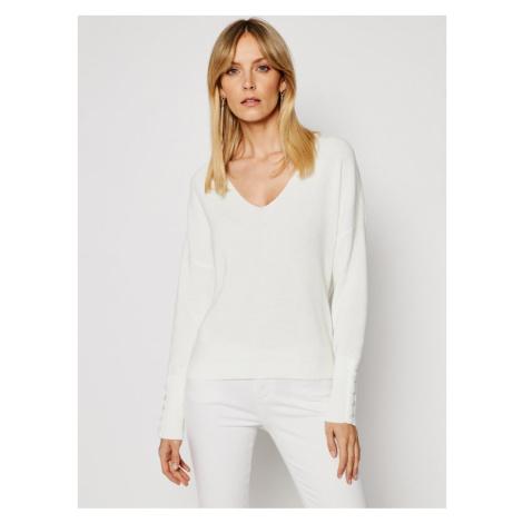 Morgan Sweter 211-MIEN Biały Regular Fit
