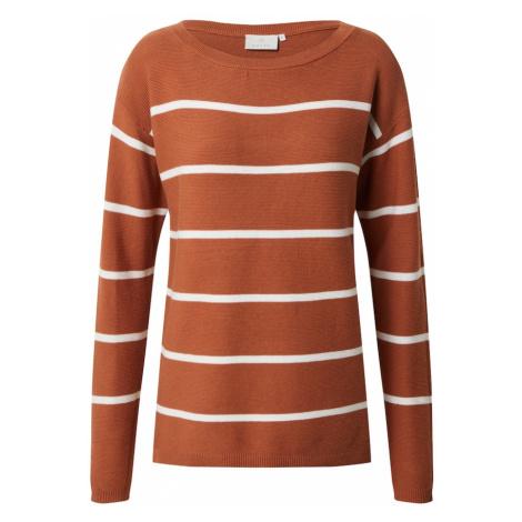 Kaffe Sweter 'Amaria' biały / brązowy