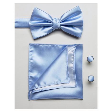 Burton Menswear tie and pocket square set in blue