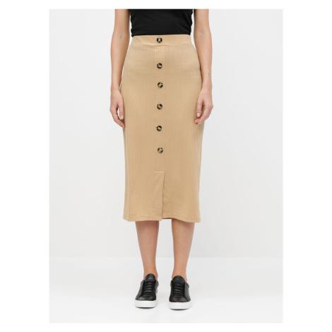 Tally Weijl beżowa spódnica ołówkowa