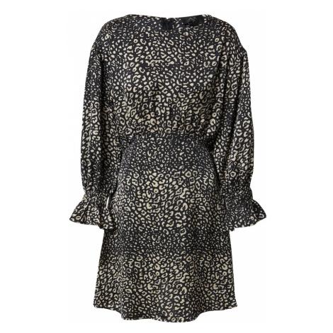 AX Paris Sukienka czarny / beżowy