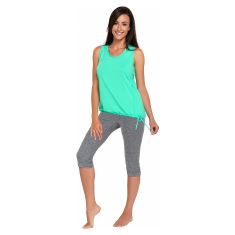 Spodnie sportowe damskie Capri melange Winner
