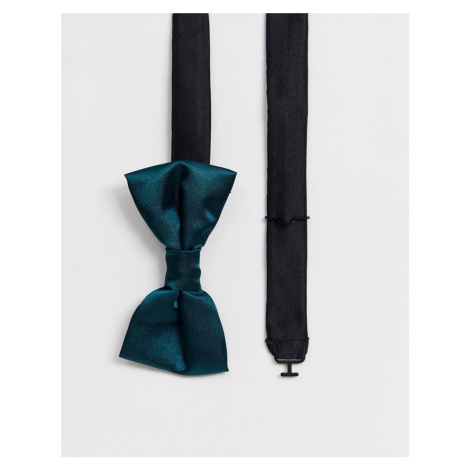 Twisted Tailor bow tie in satin green