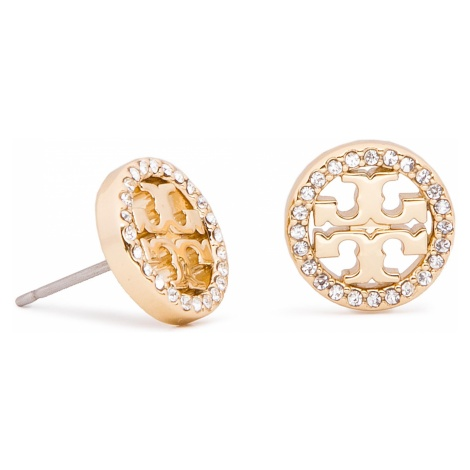 Kolczyki TORY BURCH - Crystal Logo Circle Stud Earring 53422 Tory Gold/Crystal 783