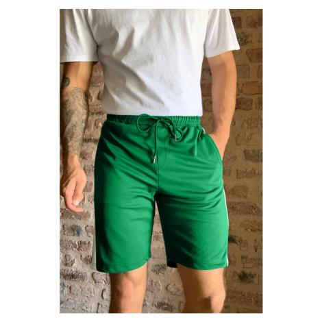 Trendyol Green Męskie Szorty panelowe z regularnym dopasowaniem & bermudy