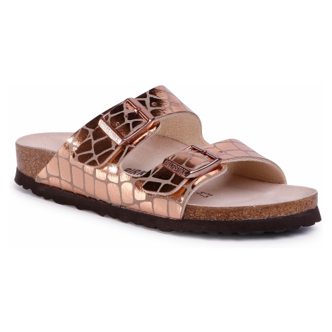Klapki BIRKENSTOCK - Arizona Bs 1016047 Gator Gleam Copper