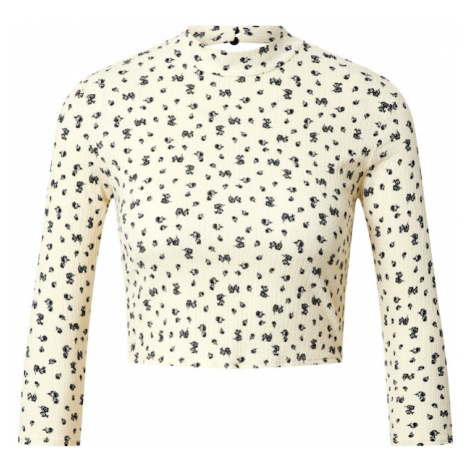 Miss Selfridge Koszulka 'Ivory' kremowy / czarny