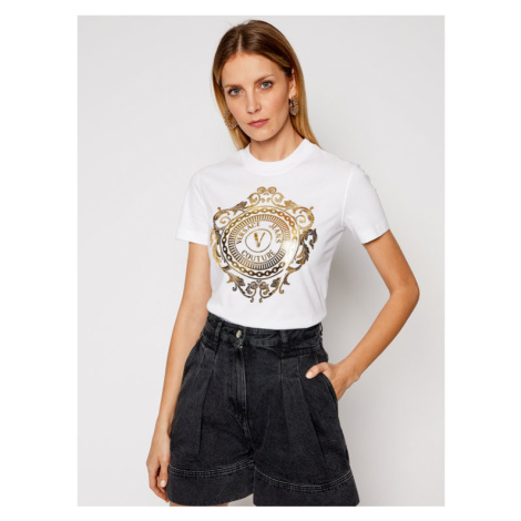Versace Jeans Couture T-Shirt B2HWA7FA Biały Regular Fit