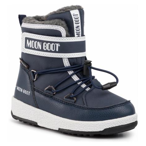 Śniegowce MOON BOOT - Jr Boy Boot Wp 34051600003 M Blue Navy/White