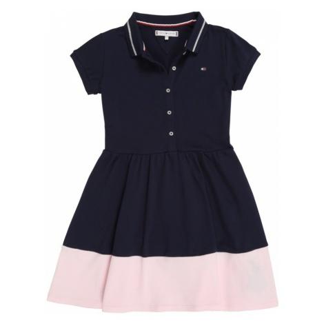 TOMMY HILFIGER Sukienka 'M ESSENTIAL FLARE POLO DRESS S/S' różowy pudrowy / czarny