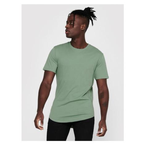 ONLY & SONS T-Shirt Matt Life Longy 22002973 Zielony Regular Fit