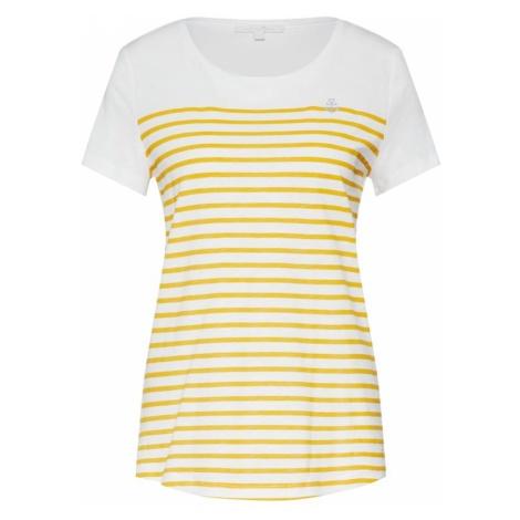 TOM TAILOR DENIM Koszulka żółty / biały