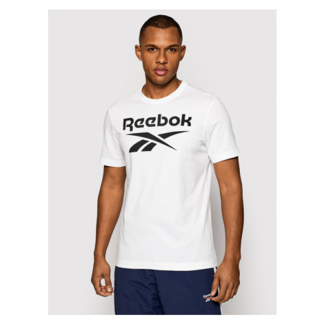 Reebok T-Shirt Graphic Series Stacked FP9152 Biały Regular Fit