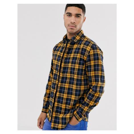 Jack & Jones Originals check shirt in yellow