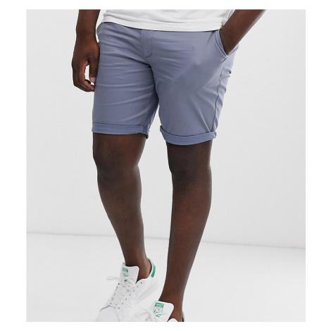 River Island Big & Tall smart chino shorts in grey