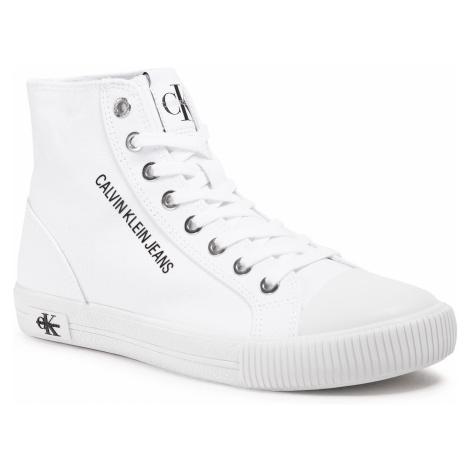 Trampki CALVIN KLEIN JEANS - Vulcanized Sneaker Highlaceup Co YW0YW00049 Bright White YAF