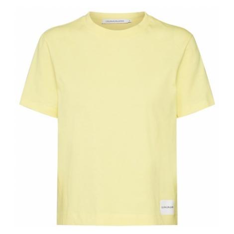 Calvin Klein Jeans Koszulka 'CORE STRAIGHT FIT TEE' żółty