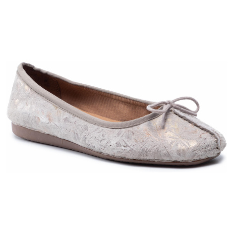 Baleriny CLARKS - Freckle Ice 261475564 Taupe Leather