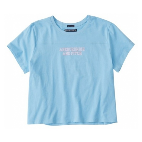 Abercrombie & Fitch Koszulka jasnoniebieski / różowy pudrowy