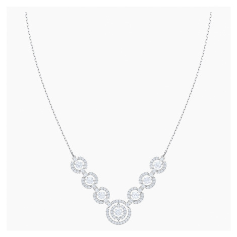 Sparkling Dance Necklace, White, Rhodium plated Swarovski