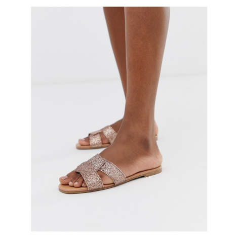 New Look interweave sandal in rose gold
