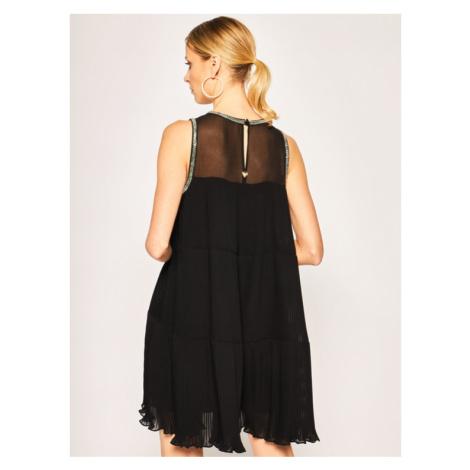 TwinSet Sukienka koktajlowa 201TT2095 Czarny Regular Fit