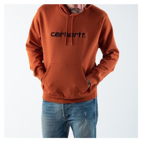 Bluza męska Carhartt WIP Hooded Carhartt Sweatshirt I027093 CINNAMON/BLACK