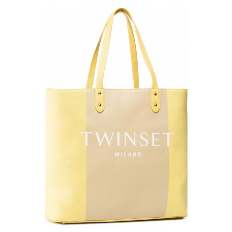 Torebka TWINSET - Shopping 201TO8220 Bic.Lime/Nougat 05062