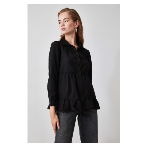 Trendyol Black Button Detailed Shirt