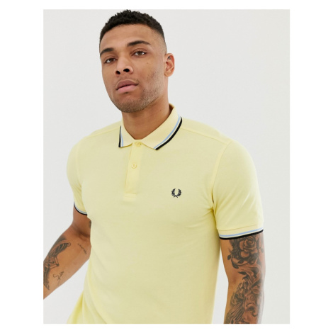 Fred Perry twin tipped polo in yellow