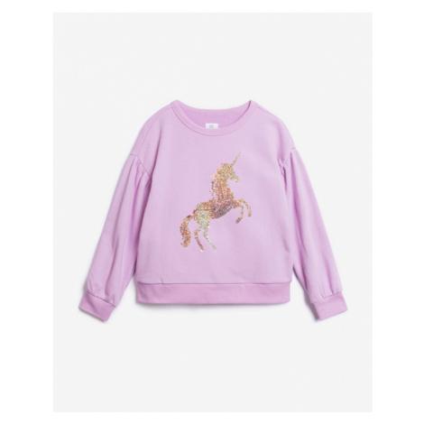 GAP Bluza dziecięca Różowy