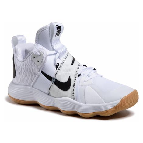 Biała męskie obuwie indoorowe
