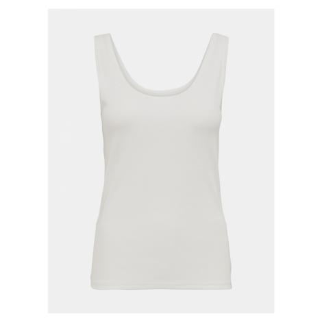 Biała koszulka basic na ramiączkach Jacqueline de Yong Imola
