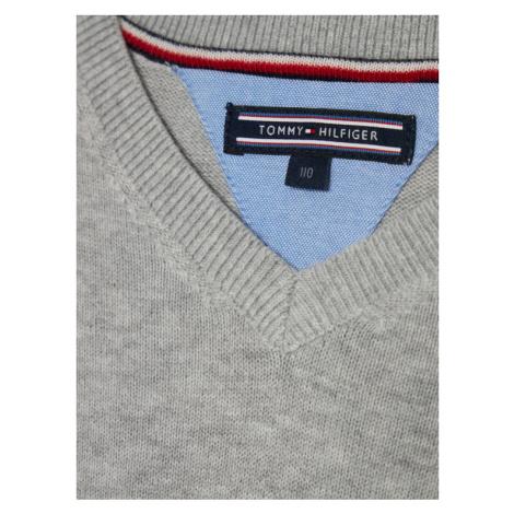 Tommy Hilfiger Sweter KB0KB03978 D Szary Regular Fit