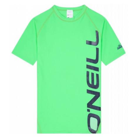 O'Neill PB LOGO SHORT SLEEVE SKINS zielony 12 - Koszulka z filtrem UV chłopięca