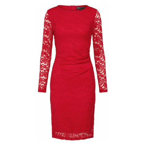 Mela London Sukienka koktajlowa 'RUCHED LACE BODYCON DRESS' czerwony