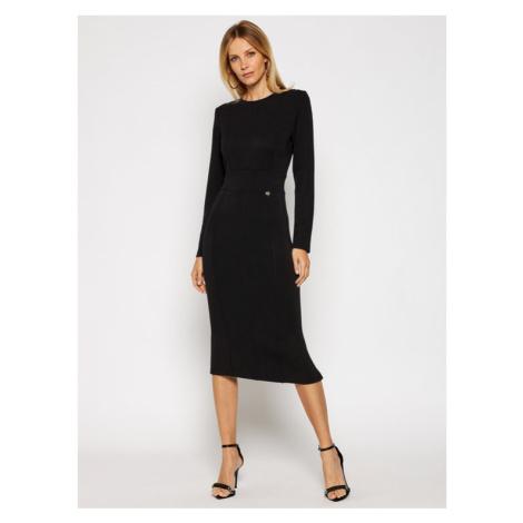 TwinSet Sukienka dzianinowa 202TT2T26 Czarny Regular Fit