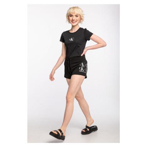 Spodenki Calvin Klein Jeans Krótkieshine Logo Knit Short J20J215559Beh Black