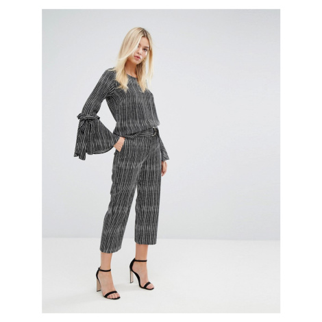 Closet London Stripe Tailored Trousers with D Ring Belt
