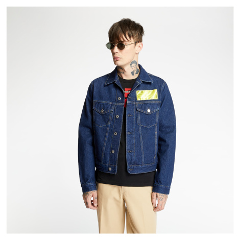 HELMUT LANG Patch Logo Trucker Denim Jacket Rinse Sioux