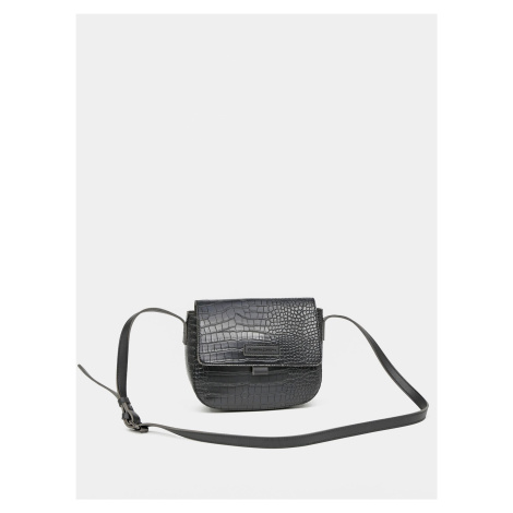 Czarna torebka crossbody z wzorem krokodyla od Claudii Canova Claudia Canova