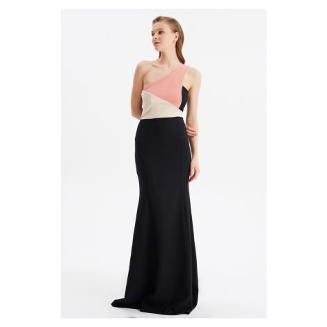 Suknia wieczorowa Trendyol Black Color Block & Graduation Gown