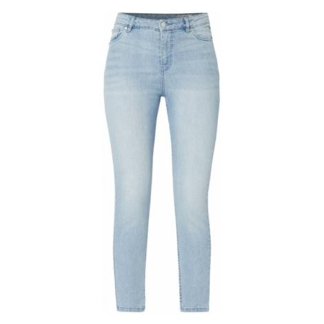 Jeansy w dekatyzowanym stylu z wysokim stanem Review