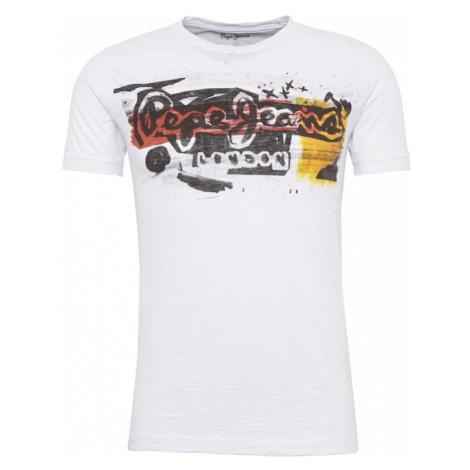 Pepe Jeans Koszulka 'AMERSHAM' żółty / czarny / biały
