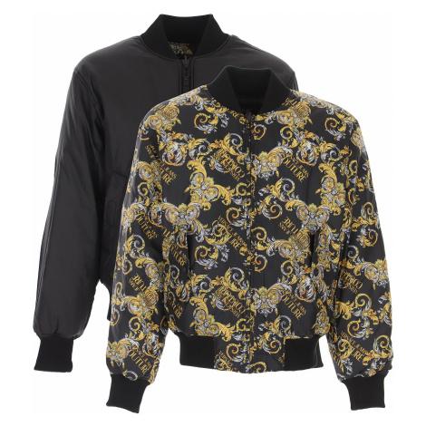 Versace Jeans Couture Kurtka Puchowa dla Mężczyzn, Puchowa Kurtka Narciarska, Reversible, czarny