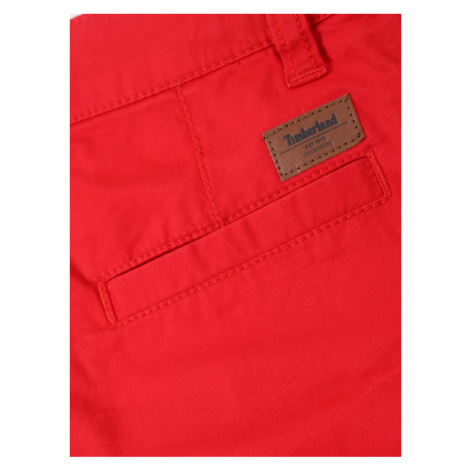 Timberland Szorty materiałowe T24A88 D Czerwony Regular Fit