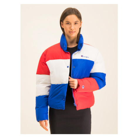 Champion Kurtka puchowa Colour Block Cropped Puffer 112347 Kolorowy Regular Fit