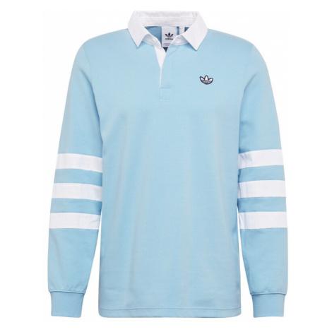ADIDAS ORIGINALS Koszulka 'RUGBY' jasnoniebieski / biały