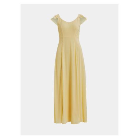 Żółta sukienka maxi VILA Rilla